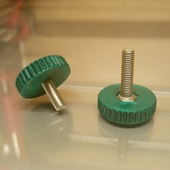 Download free STL Adapter CHC / TH screw or nut -> Knurled knob / Knurled screw Adapter handle, V1nve