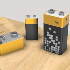vg1.png Télécharger fichier STL gratuit Boite pile • Objet pour imprimante 3D, V1nve