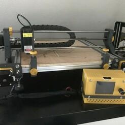 IMG_0249.jpg Download free STL file Laser / cnc engraver frame V2 - Laser / cnc engraver frame V2 • Object to 3D print, V1nve