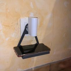 Télécharger fichier imprimante 3D gratuit Support de  téléphone mural, liondordesbois