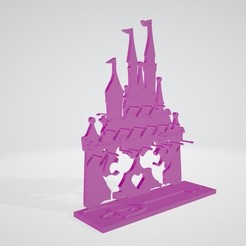 Download STL files disney pincess mikey minie jewellery holder, theo24000