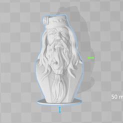 Imprimir en 3D gratis Dumbledore - Busto - 80mm, Alice_Masked