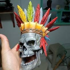 Télécharger plan imprimante 3D Crâne indien, ronnybarcelona