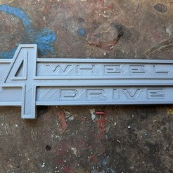 cowl.jpg Download OBJ file Jeepster 4wheel drive cowl badge emblem • Object to 3D print, DarkMavrik