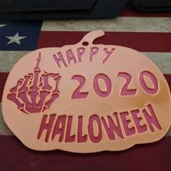 IMG_20200921_120956.jpg Download free STL file Happy Halloween Fuck 2020 OFF Covid Sign • 3D printable model, DarkMavrik