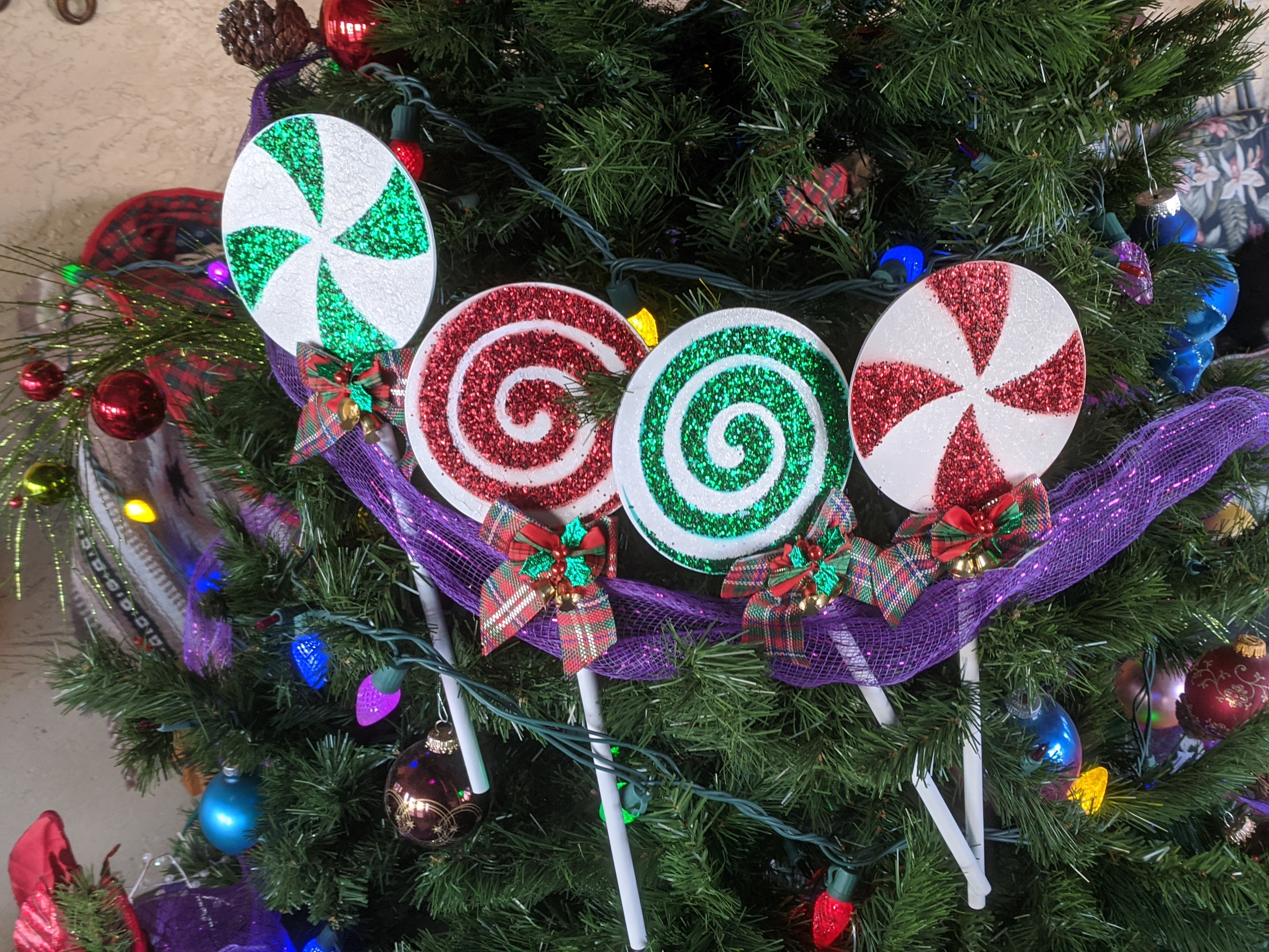 Download STL file 5in or 8in Christmas Lolipop Peppermint Stencils Decorations • Design to 3D print, DarkMavrik