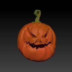 Calabaza2RENDER.jpg Télécharger fichier STL gratuit Citrouille d'Halloween V1 • Objet pour imprimante 3D, 3Dimpact