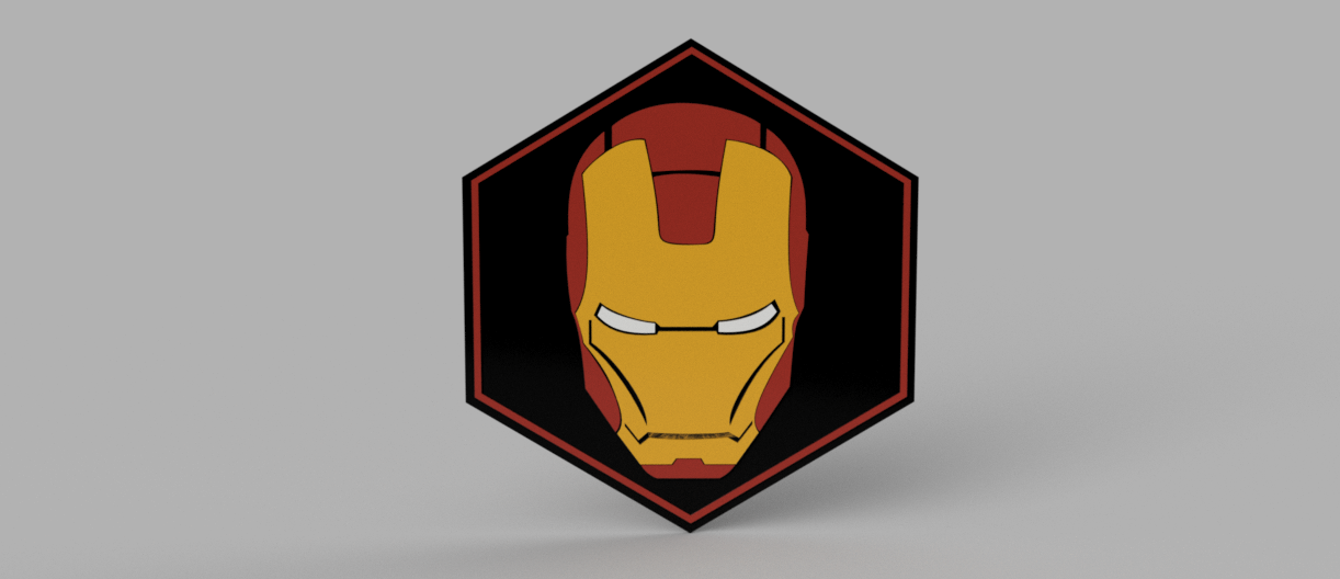 IRONMANRENDER.png Download free STL file Ironman Plate • 3D printable object, 3Dimpact
