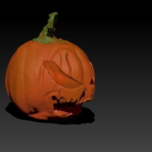 CalabazaRender2.jpg Télécharger fichier STL gratuit Citrouille d'Halloween V2 • Objet imprimable en 3D, 3Dimpact