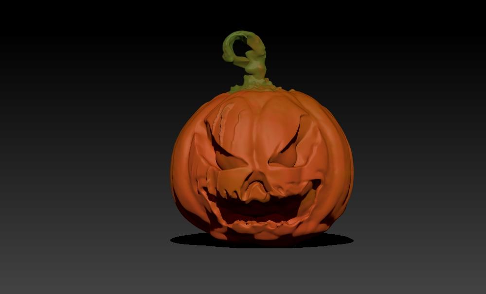 CalabazaRender.jpg Télécharger fichier STL gratuit Citrouille d'Halloween V2 • Objet imprimable en 3D, 3Dimpact