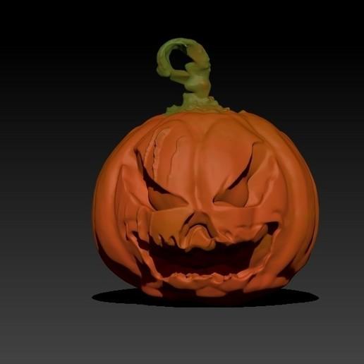 Download free STL file Halloween Pumpkin V2, 3Dimpact