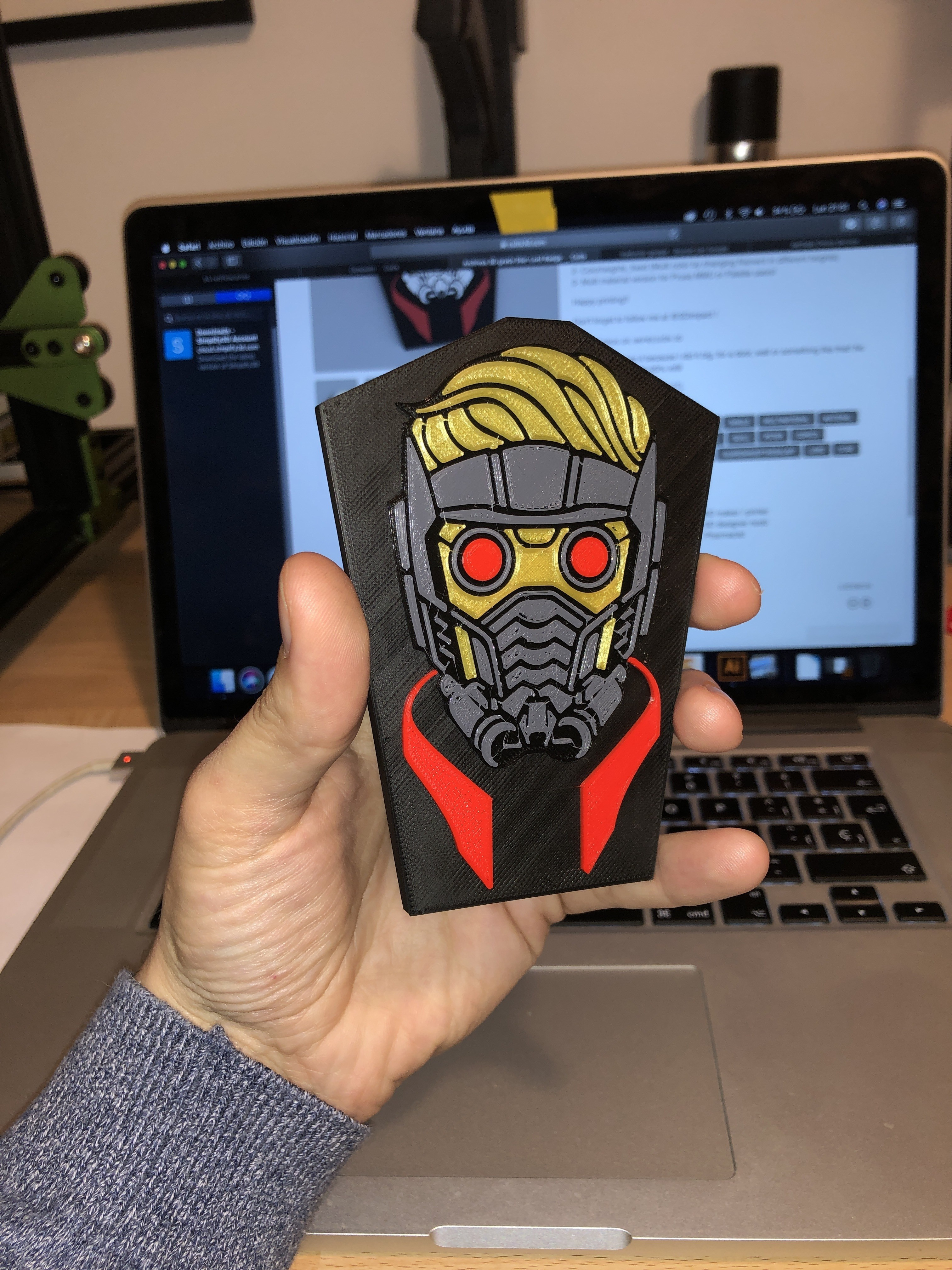 image.jpg Download free STL file Star-Lord Badge • 3D print object, 3Dimpact