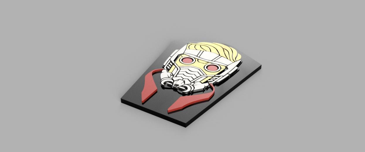 RenderColorHeights.jpg Download free STL file Star-Lord Badge • 3D print object, 3Dimpact