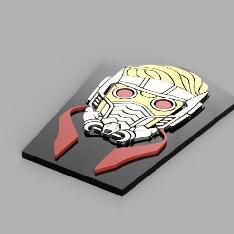 Free STL files Star-Lord Badge, 3Dimpact