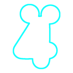 Download 3D printer templates Number 4Mickey Cookies cutter, avmbue