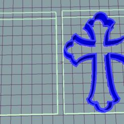 3D printer files Communion Cross, cookie cutter, avmbue