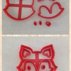 Impresiones 3D CORTANTE GALLETAS . FONDANT ZORRO EN PARTES - PUZZLE COOKIES CUTTER FOX, avmbue