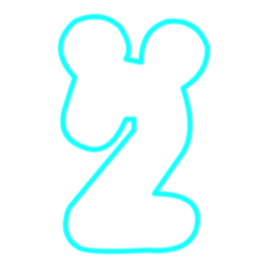 Download STL files Number 2 Mickey cookies cutter, avmbue