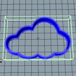 3D printing model Cloud cookies cutter, avmbue