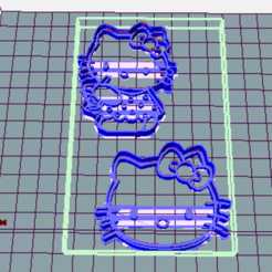 3D printer files KITTY COOKIE CUTTER - COOKIES CUTTER KITTY, avmbue