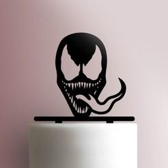 JB_Venom-225-710-Cake-Topper.jpg Download STL file Venom cake topper • 3D printer template, Cookiecutters13