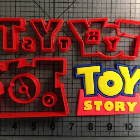 Descargar archivos 3D Toy Story Logo cookie cutter cortante para galletitas, Cookiecutters13