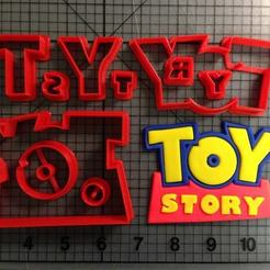 Download 3D model Toy Story Logo cookie cutter cutter for cookies, Cookiecutters13