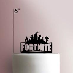 JB_Fortnite-225-262-Cake-Topper (1).jpg Download STL file Fortnite cake topper • 3D printing object, Cookiecutters13