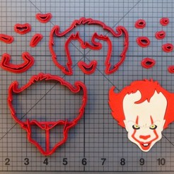 Download 3D printing models Cookie cutter pennywise cutter for fondant cookies, Cookiecutters13