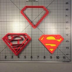 Superman-Logo-Cookie-Cutter-Set-Super-Hero-133-Cookie-Cutter-Set-1.jpg Télécharger fichier STL Cookie Cutter Superman Logo Logo • Objet imprimable en 3D, Cookiecutters13