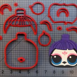 Download 3D model Cookie Cutter doll lol cuervo bonito, Cookiecutters13