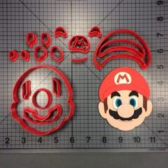 Télécharger objet 3D Coupe-couteau Coupe-biscuits Super mario bross rouge brossé, Cookiecutters13
