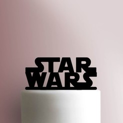Star-Wars-Logo-Cake-Topper-100_00000.jpg Download STL file Star wars cake topper • 3D printer model, Cookiecutters13