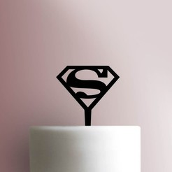 Superman-Cake-Topper-101_00000.jpg Download STL file Superman cake topper • 3D printing object, Cookiecutters13