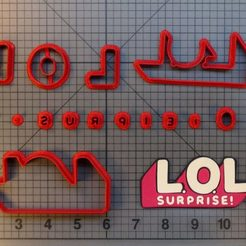 Download STL file Cookie Cutter Dolls LOL Surprise Dolls, Cookiecutters13