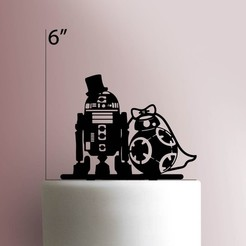 JB_R2-D2-and-BB-8-Wedding-225-042-Cake-Topper.jpg Download STL file Star wars cake topper • 3D printer model, Cookiecutters13