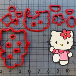 Download STL files Hello Kitty Cookie cutter cookie cutter, Cookiecutters13