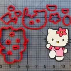 Descargar diseños 3D Hello Kitty Cookie cutter cortante de galletitas, Cookiecutters13