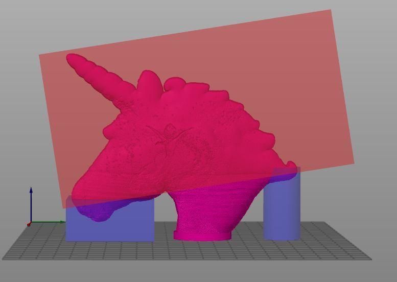 licorne support.JPG Download STL file Lithophane lamp unicorn / snow queen (Frozen) • 3D printable template, BD3d