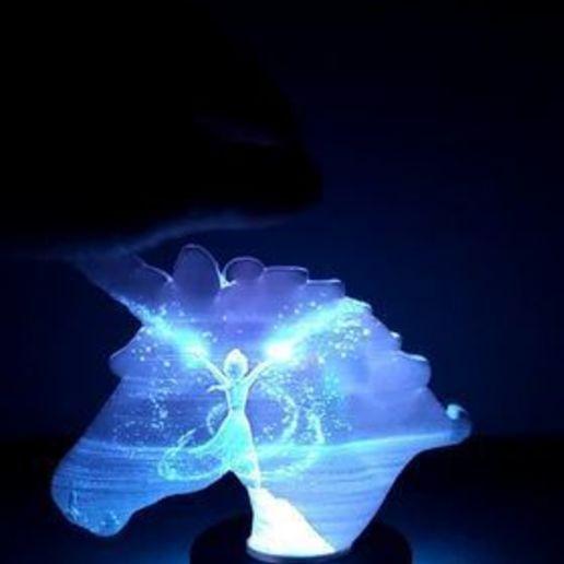 127771205_390380595537009_9002085456429804170_n.jpg Télécharger fichier STL Lampe lithophane licorne / reine des neiges (Frozen) • Design pour imprimante 3D, BD3d