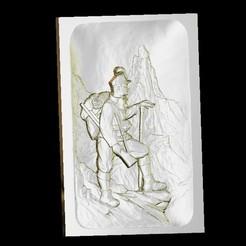 Impresiones 3D gratis Escalada montaña aventurero vintage everest, 3Dprintablefile