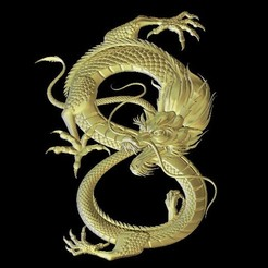 Fichier STL gratuit Art du dragon chinois, 3Dprintablefile