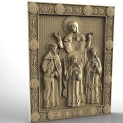 Download free STL Religious icon cnc art 3D model Muchenitsy_Vera_Nadezhda_Lyubov, 3Dprintablefile