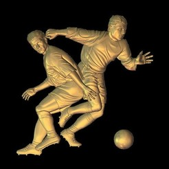 Download free 3D printing models attack football soccer player dribbling, 3Dprintablefile