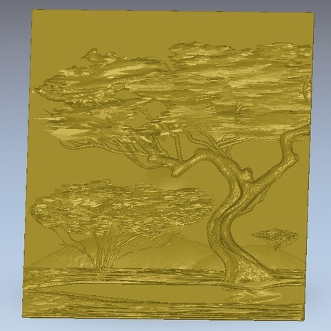 Download free STL file tree in the desert africa, 3Dprintablefile