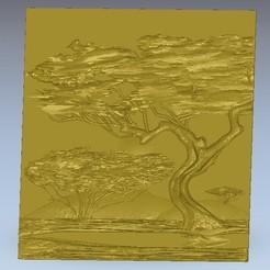 Télécharger STL gratuit arbre dans le désert afrique, 3Dprintablefile