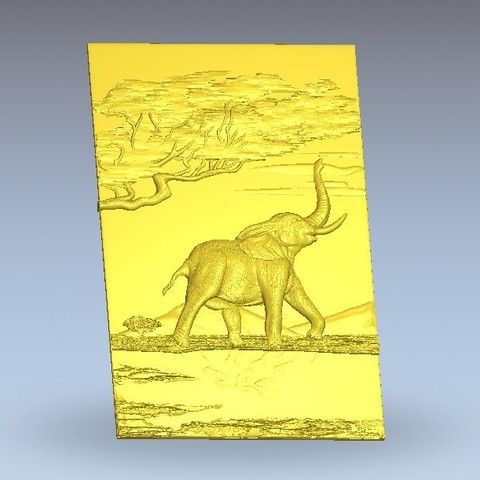 Download free 3D print files elephant in africa, 3Dprintablefile