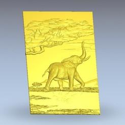 Télécharger fichier impression 3D gratuit éléphant en afrique, 3Dprintablefile