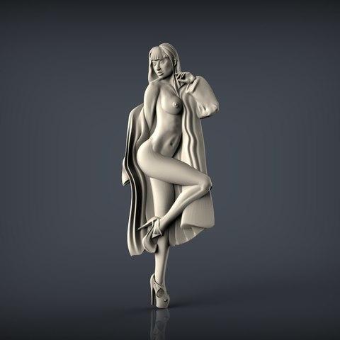 Download free STL naked woman, 3Dprintablefile