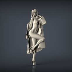 Download free STL naked woman, 3Dprintablefile